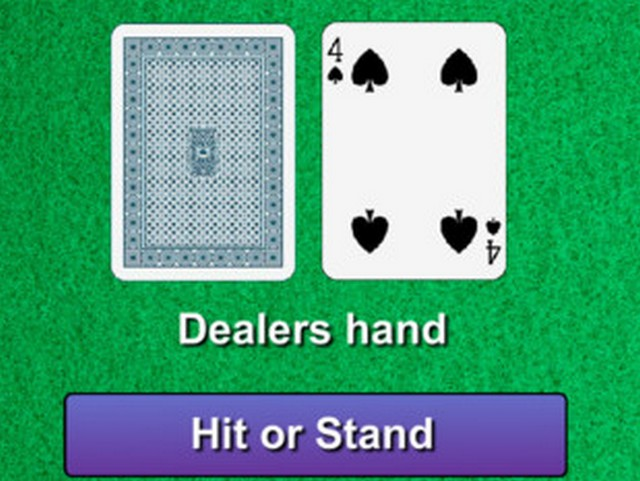 Knowing when to hit or stand in blackjack